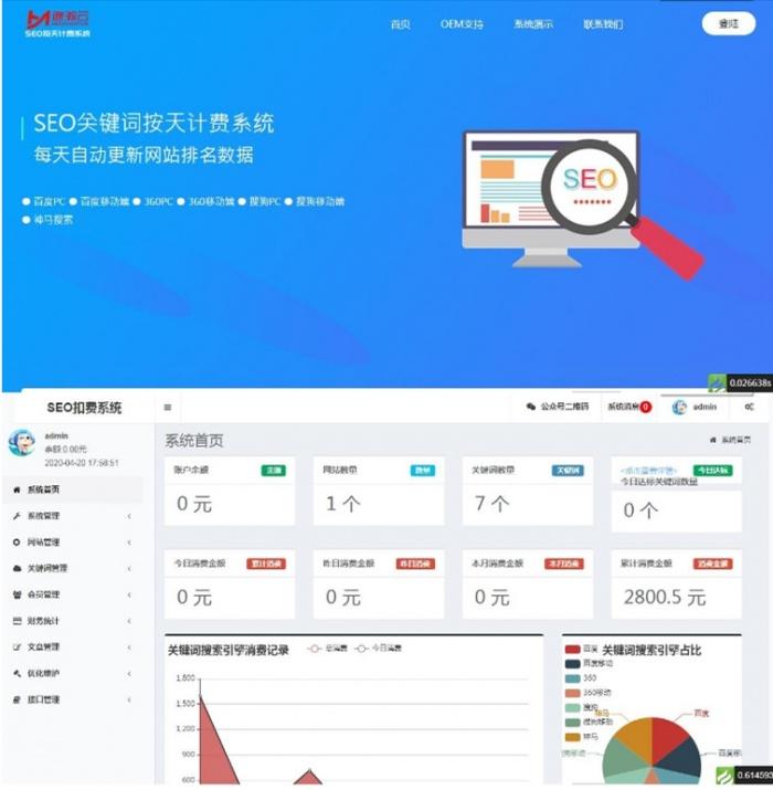 最新版SEO网站按天扣费系统源码 精品源码